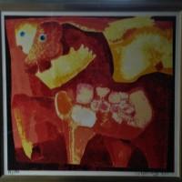 Theo Mackaay, kleurrijke grote zeefdruk