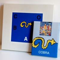 Cobra cassette met boek/2 zeefdrukken Corneille Brands